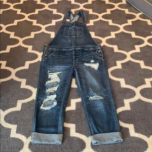 American Eagle Outfitters Jeans - American Eagle Distressed Tomgirl Overalls L